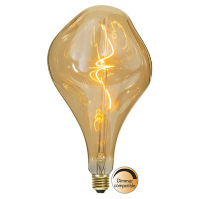 LED-lamp INDUSTRIAL VINTAGE AMBER A165, 3,8 W / 2000 K / E27