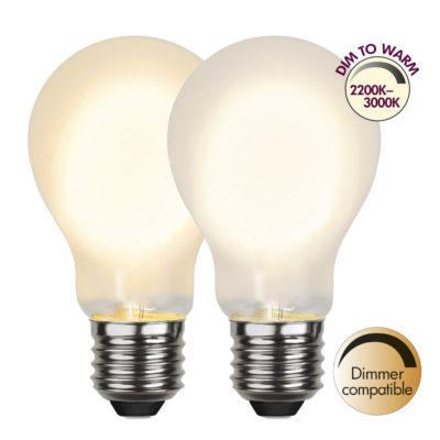 LED-lamp A60 DIM-TO-WARM, 4 W / 2200-3000 K / E27