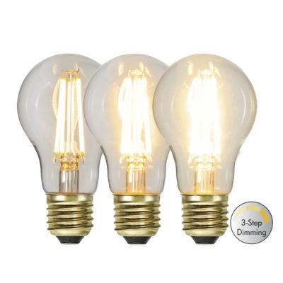 LED-lamp A60 3-STEP CLICK, 6,5 W / 2100 K / E27