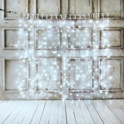 Tihe professionaalne 2 x 2 m LED-valguskardin COLD&WHITE PRO (vilkumisfunktsiooniga) IP67