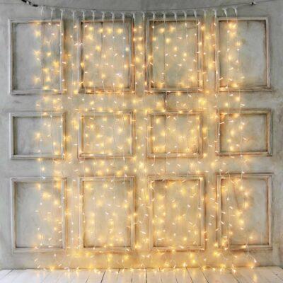 Tihe professionaalne 2 x 3 m LED-valguskardin WARM&WHITE PRO (vilkumisfunktsiooniga) IP67