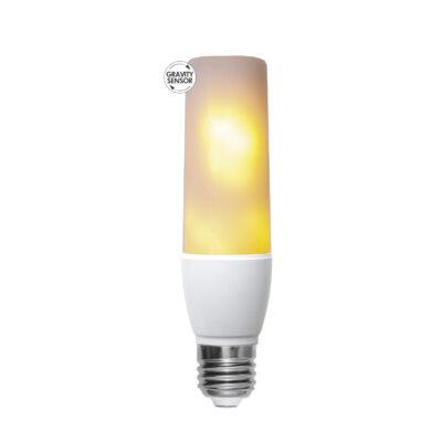 LED-lamp, leegiimitatsiooniga T45 FLAME, 2,4 W - 5,9W / 1800 K / E27