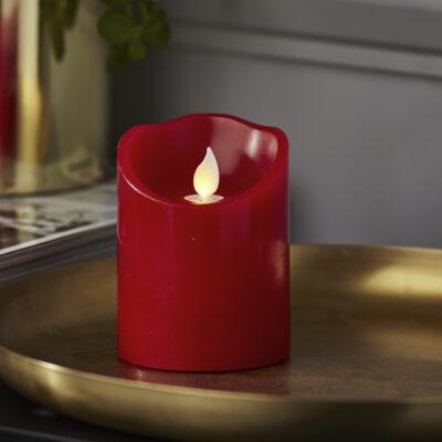LED-küünal TWINKLE-RED (10 cm)
