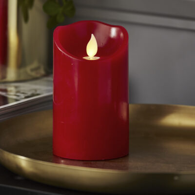 LED-küünal TWINKLE-RED (12,5 cm)