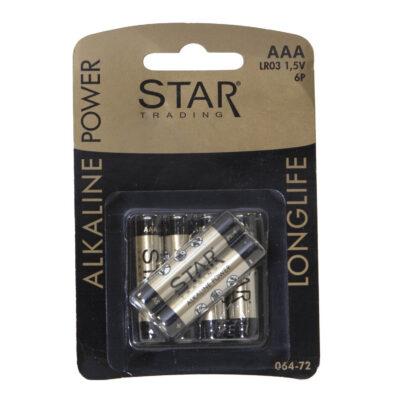 Patareid STAR TRADING, AAA/LR03, 6 tk