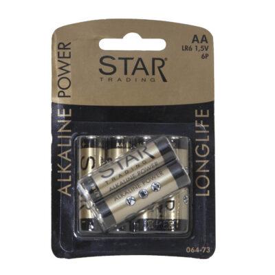 Patareid STAR TRADING, AA/LR6, 6 tk