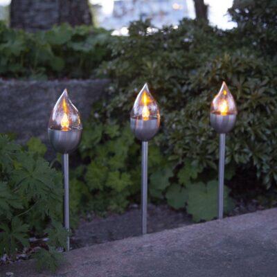 3 päikesepaneeliga laternat õue OLYMPUS Päikesepatarei