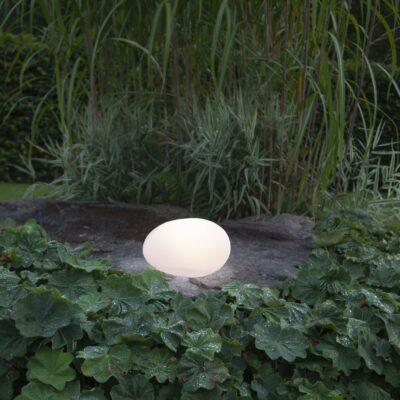 Päikesepatareiga aiakaunistus WHITE STONE, M Päikesepatarei