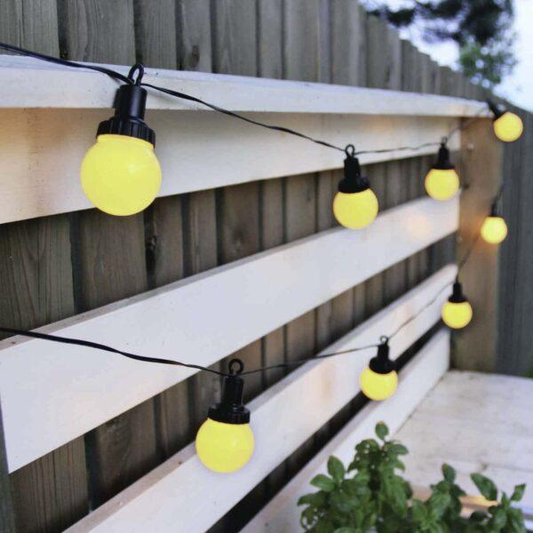 4.4 m päikesepatareiga valguskett LIGHT BALL SOLAR